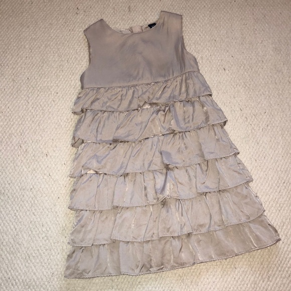 GAP Other - BabyGap Silk/Cotton taupe color ruffled dress